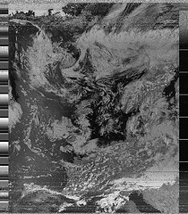 Weather satellite image received with RTL-SDR