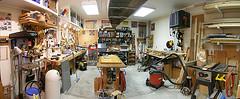 woodworking shop panarama