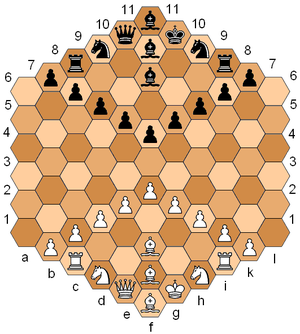 Gliński's hexagonal chess one of many chess va...