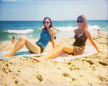 Two women on the Jersey Shore